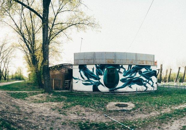 У Чорнобилі до 30-річчя катастрофи намалювали мурал (фото)