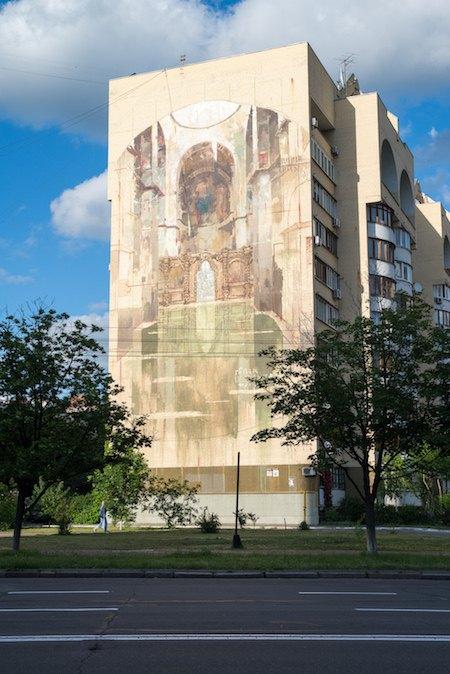 Канадський художник розписав фасад Центру культури і мистецтв КПІ (фото)