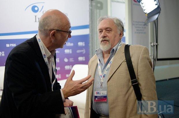 Сергей Проскурня и Семен Глузман, правозащитник и постоянный автор LB.ua