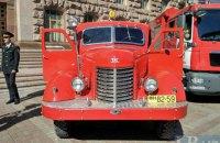 В центре Киева организовали выставку пожарных машин