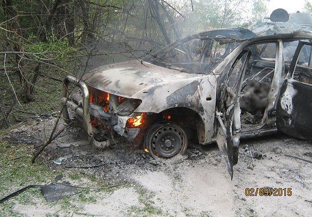 Расстрелянное авто Эндрю