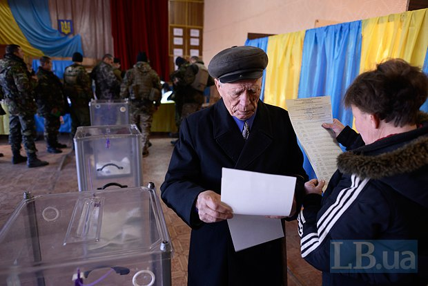 Выборы в Новоайдаре в 2014 г.