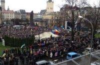 20 тыс. студентов на евромайдане во Львове станцевали гарлем-шейк