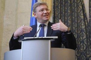 Фюле заявил, что верит в европейское будущее Украины