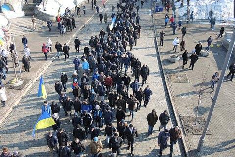 400 осіб провели ходу до меморіалу Небесної Сотні в центрі Києва
