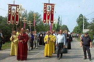 Силовики пропустили крестный ход в Киев (обновлено)