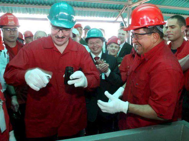 Александр Лукашенко и Уго Чавез