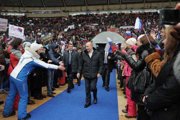Украина принимает активное участие в предвыборной кампании Владимира Путина