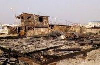 На побережье Азовского моря в Кирилловке сгорели МАФы
