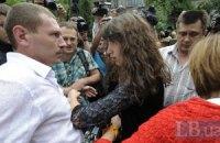Татьяну Чорновол опять задержали в Межигорье