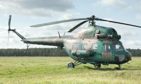 Под Харьковом на соревнованиях упал вертолет
