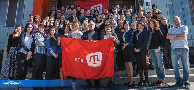 Сотрудники телеканала АТР в августе 2014 года в Симферополе