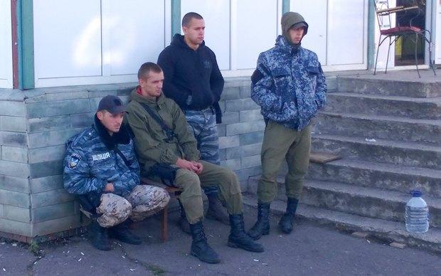 Задержанные беркутовцы