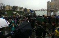 Перед активистами Майдана выступил Кличко
