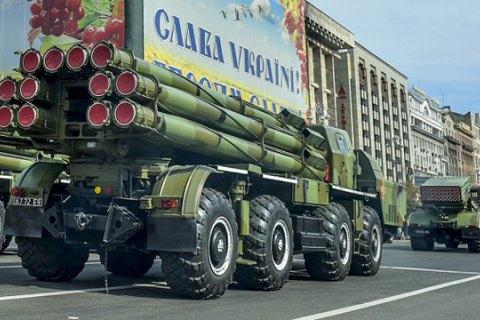 Бирюков: Напараде вКиеве будет 200 единиц военной техники
