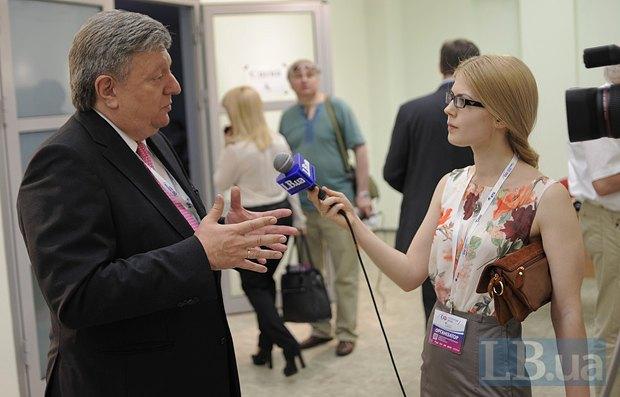 Роман Шпек и редактор Like.lb.ua Валерия Ковалинская