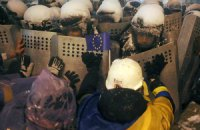 В правительственном квартале остались две баррикады демонстрантов