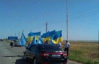 Крымские татары голосуют в Херсонской области