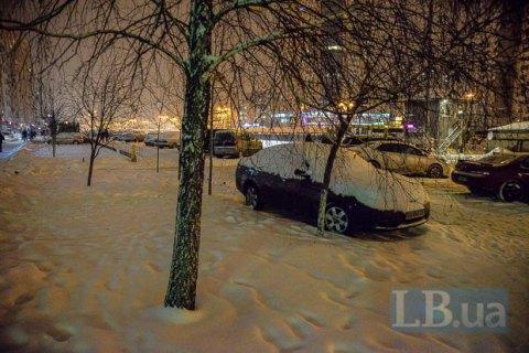 Киев замело снегом