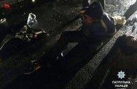 В Киеве пьяный мотоциклист угрожал поджечь себя и патрульных