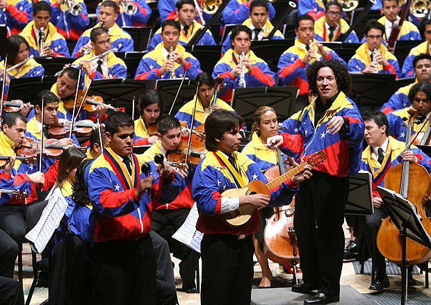 Молодежный симфонический оркестр - результат всеобщего музыкального образования, введенного в Венесуэле.