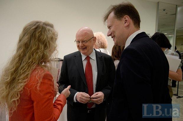 Михаль Баер, Чрезвычайный и Полномочный Посол Венгрии в Украине и Дмитрий Остроушко