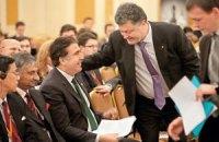 Порошенко назначил Саакашвили главой Международного совета реформ