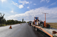 Порошенко проинспектировал ход ремонта трассы Одесса-Рени