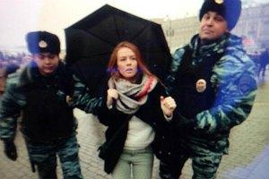"""В Москве задержали 40 участников акции в поддержку телеканал """"Дождь"""""""