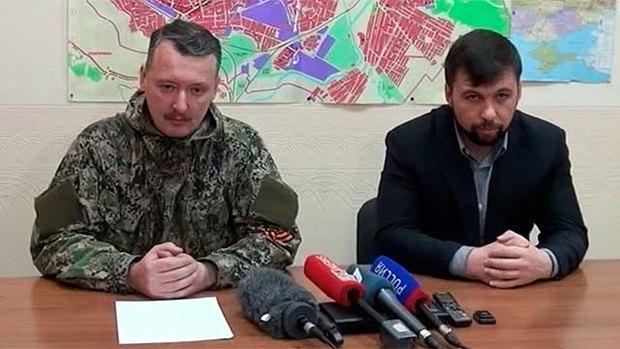 Гиркин и Пушилин вещают для зрителей российских телеканалов