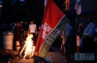 В Фастове активисты установили палатку и прошлись по комнатам РОВД