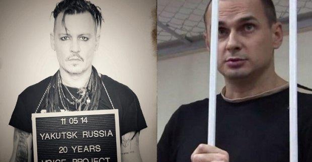 Джонні Депп знявся у соціальному проекті на підтримку Сенцова