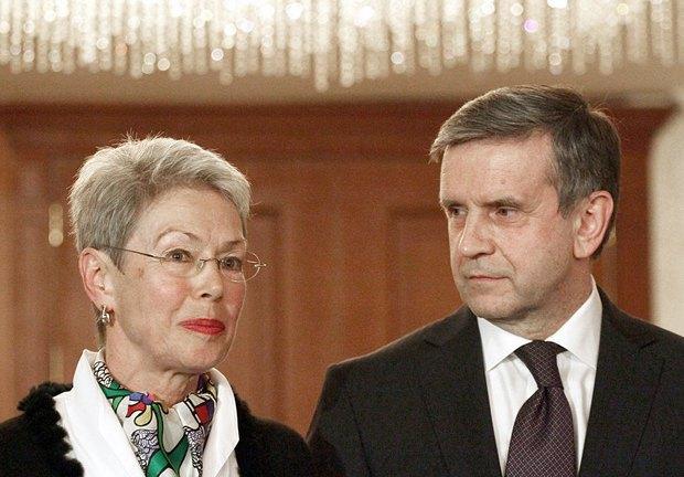 Михаил Зурабов и Хайди Тальявини.