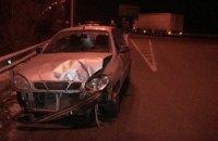 Влетевший под грузовик Daewoo Lanos заблокировал въезд в Вышгород