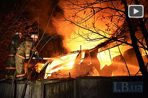 На Шулявке горел склад