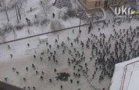 """""""Беркут"""" дошел до Европейской площади и возращается назад"""