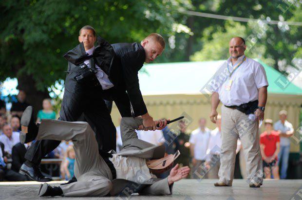 Соревнования среди телохранителей. Команда Управления государственной охраны (УДО)