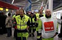 Немецкие профсоюзы организовали забастовки в аэропортах