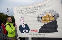 В Германии прошли массовые акции против трансатлантического партнерства