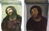 80-летняя пенсионерка попыталась самостоятельно отреставрировать фреску