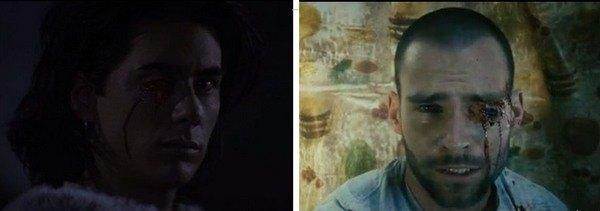 Кадры из фильмов Southland Tales (2006, справа) и Donnie Darko (2001, слева)
