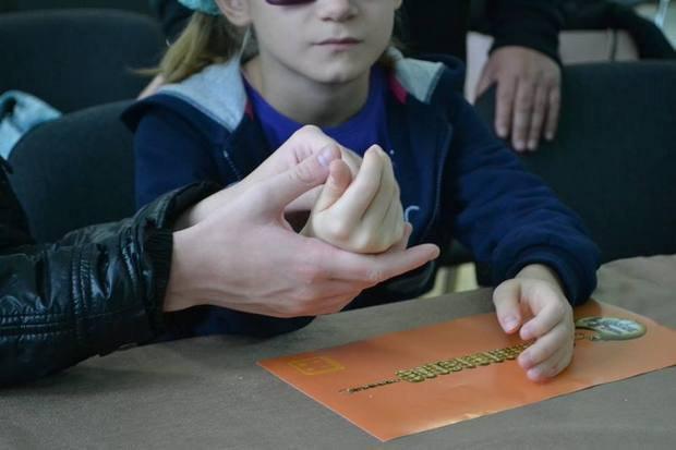У Національному музеї історії України запустили програму для незрячих дітей