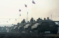 К Тельманово движется крупная колонна российской бронетехники (обновлено)