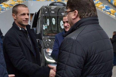 Президент УЕФА посетил НСК «Олимпийский» вКиеве