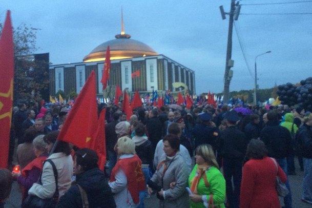 """В Москве в ответ на Марш мира проходит """"акция скорби"""""""