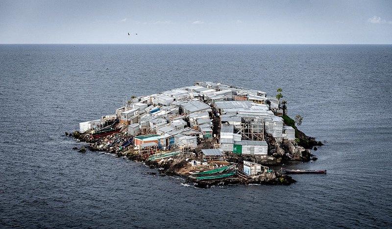 Вид на Мигинго с соседнего незаселённого острова