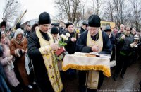 Под колонией Тимошенко прошел молебен