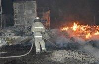 Пожар под линией электропередачи обесточил часть Днепра