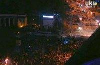 """Бойцы """"Беркута"""" забрались на колоннаду и задерживают там протестующих (ДОБАВЛЕНО ВИДЕО)"""