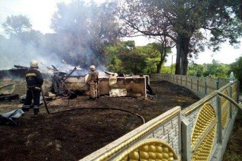 В Житомирской области сгорела деревянная церковь XIX века